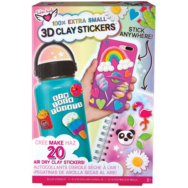 3D Mini Clay Stickers