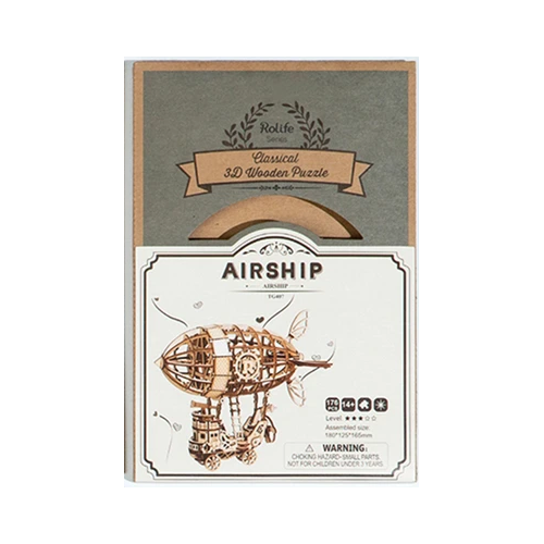 3D Wooden Puzzle Airship