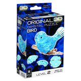 3D Crystal Puzzle Bird Blue