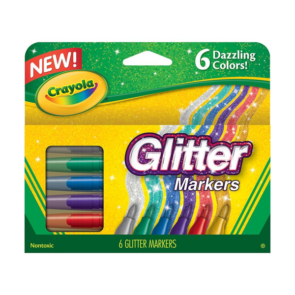 Glitter Markers-6 Count