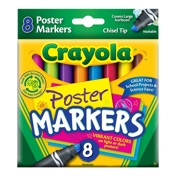 Washable Poster Markers-8 Count