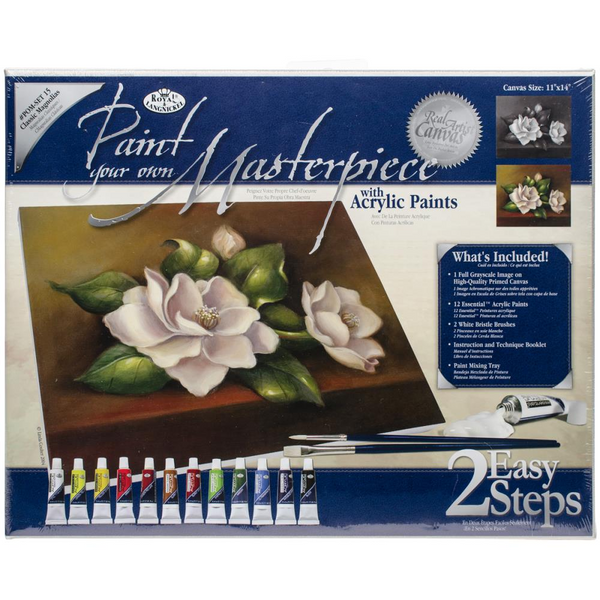 "Acrylic Paint Your Own Masterpiece Kit 11""X14"" Classic Magnolias"