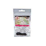 Alphabet Bead Bag White Cubes