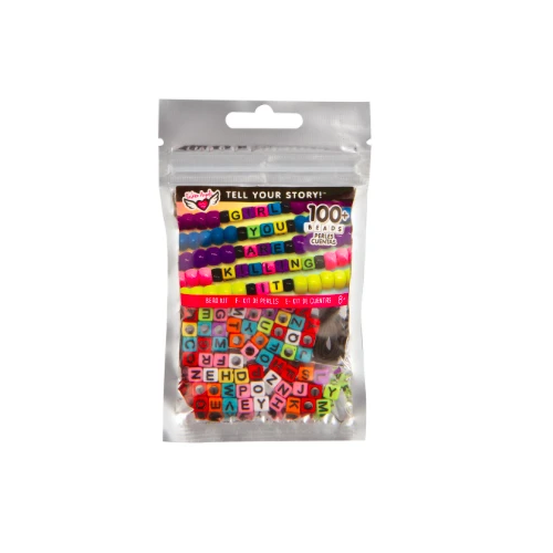 Alphabet Bead Bag Rainbow Cubes