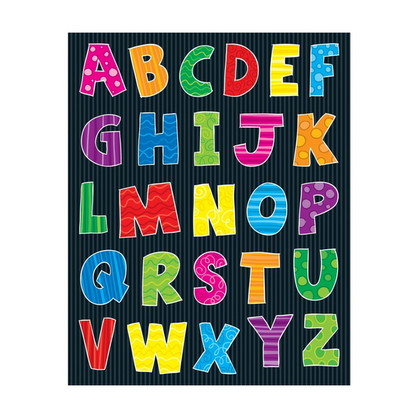 Alphabet Uppercase Shape Stickers