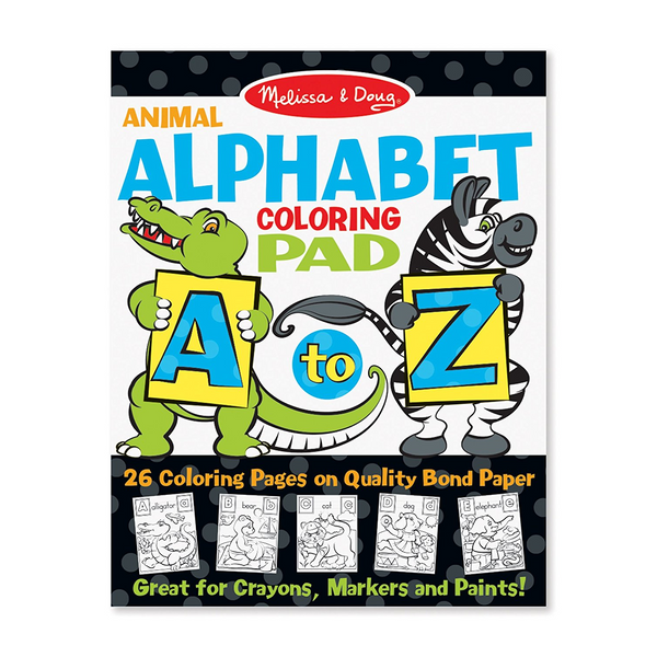 Animal Alphabet Coloring Pad A-Z