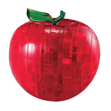3D Crystal Puzzle Apple Red