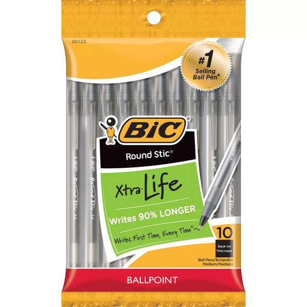 Bic Round Stic Ball Point Pens