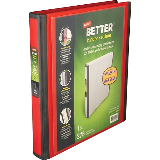 "1"" Better View Binders with D-Rings"