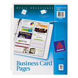 Business Card Pages 10 Pack