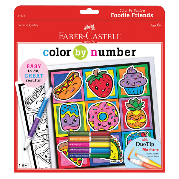 Color By Number Foodie Friends