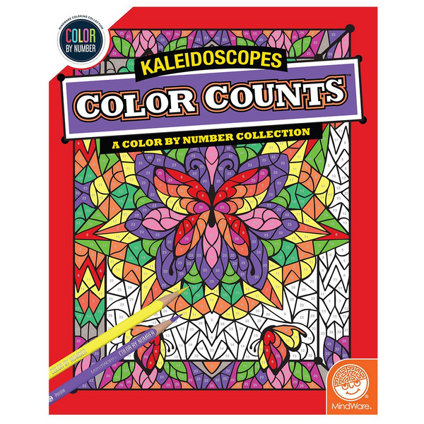 Color Counts By Number Book