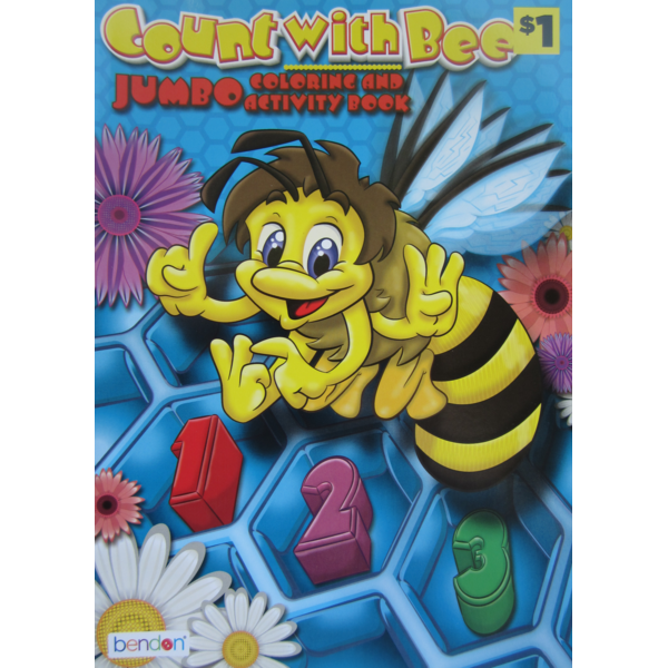 Count With Bee Coloring Book