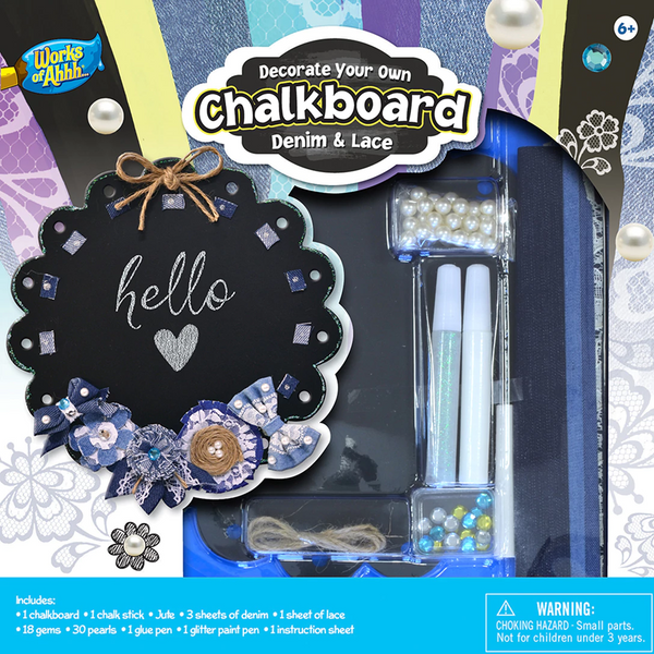 Decorate Your Own Denim Chalkboard