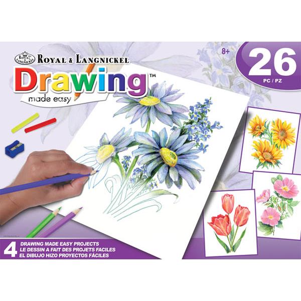 Drawing Made Easy Flowers Box Set