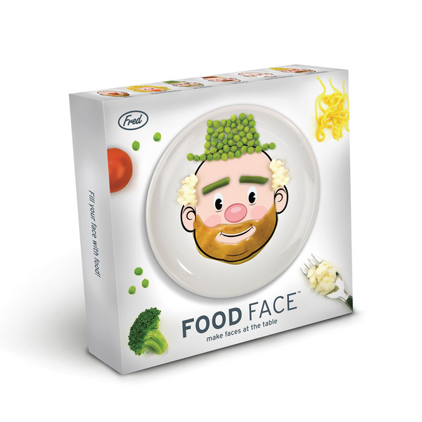 Food Face Ceramic Dinner Plate