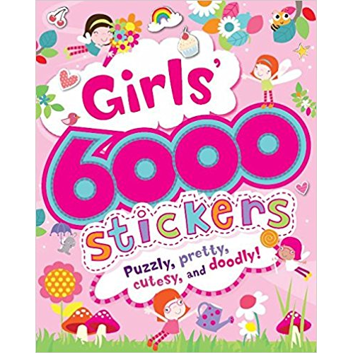 Large 6000 Sticker Book Girls/Boys