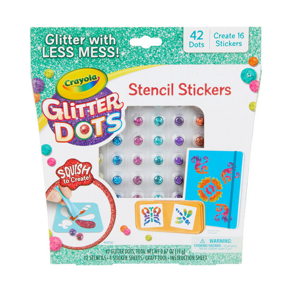 Glitter Dots Sticker Stencils