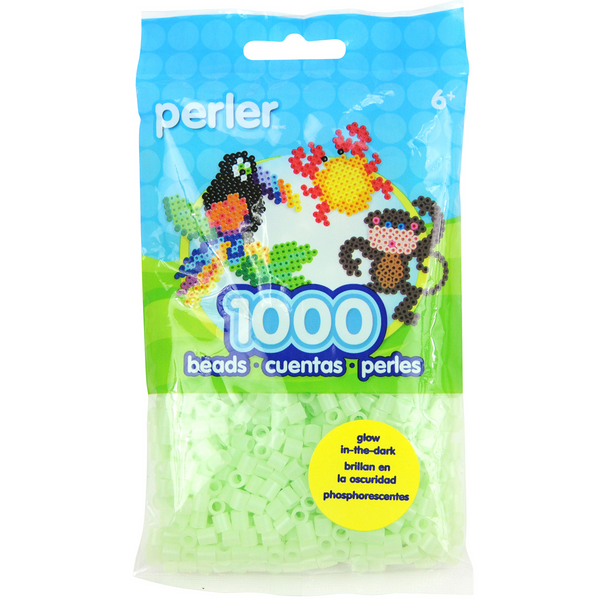 Perler Glow Dark Green Beads 1000 Pieces
