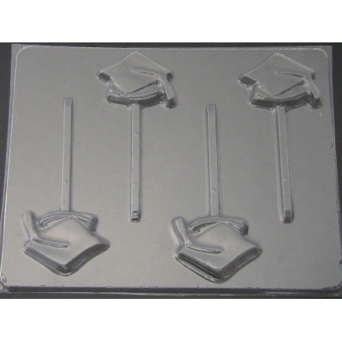Graduation Caps Lolly Mold
