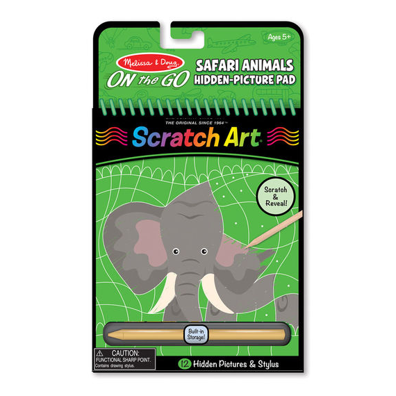 Scratch Art Hidden Picture Pad