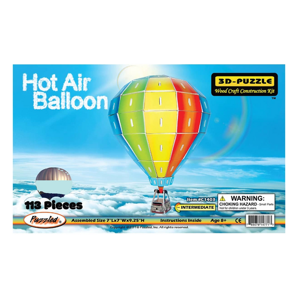 Hot Air Balloon Colored 3D Puzzle