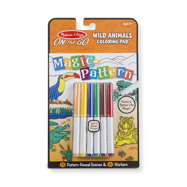 On The Go Magic Pattern Wild Animals Coloring Pad