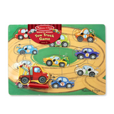 Magnetic Wooden Tow Truck Puzzle Game
