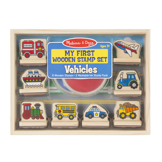My First Wooden Stamp Set Vehicles