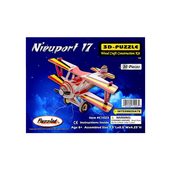 Nieuport 17 Colored 3D Puzzle