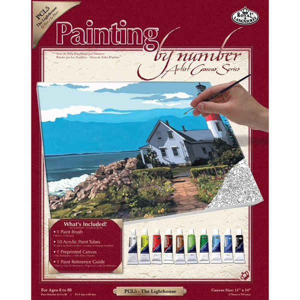 Paint By Number Canvas The Lighthouse