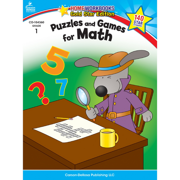 Puzzles & Games For Math Activity Book