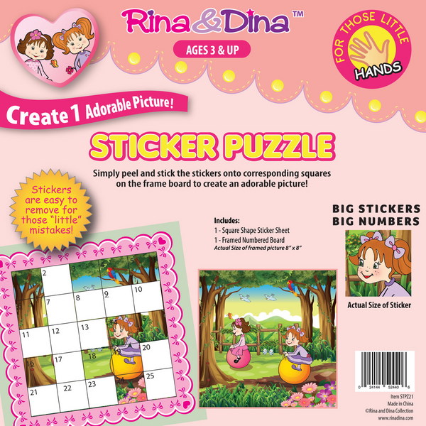 Rina & Dina Little Hands Sticker Puzzle Jumping Balls