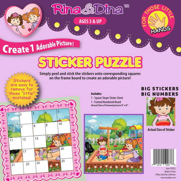 Rina & Dina Little Hands Sticker Puzzle Sandbox