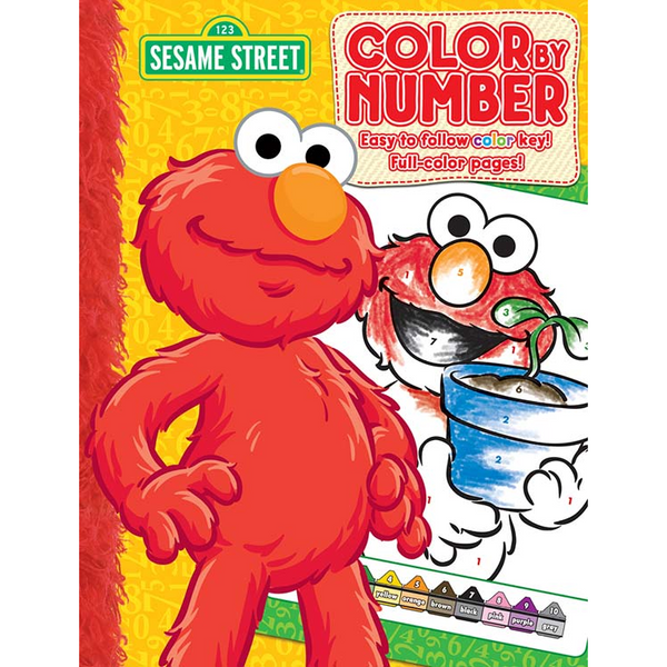 sesame street color by number - Color By Number Books