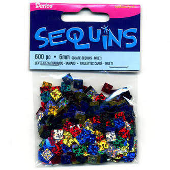 Square Sequins 6 mm