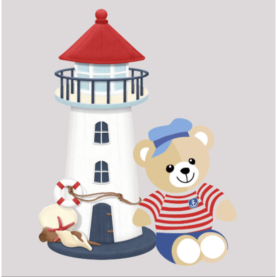 Teddy Light House Partial Diamond Painting