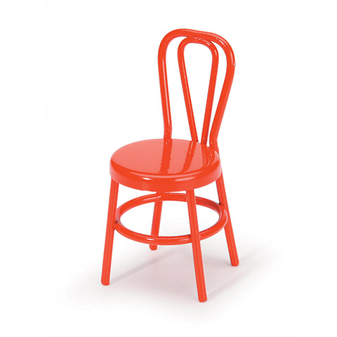 Timeless Minis Chair Metal Red