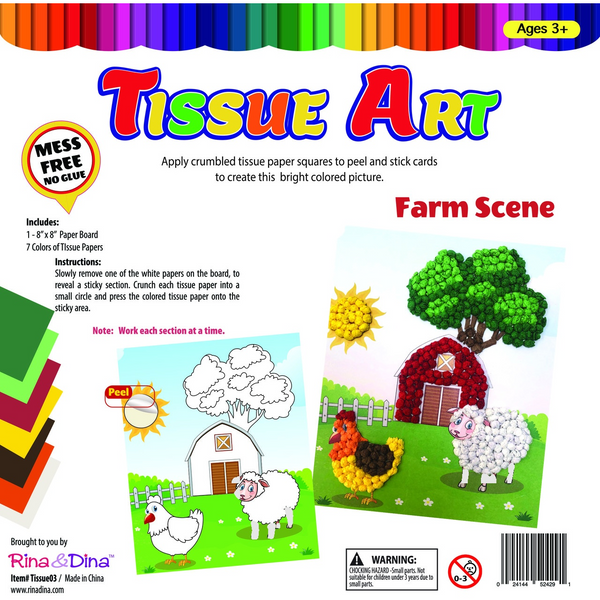 Tissue Art Farm Scene