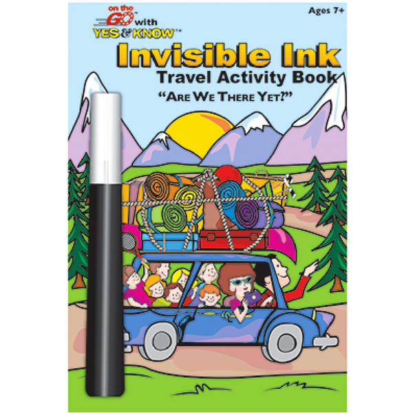 Travel Activity Invisible Ink Book