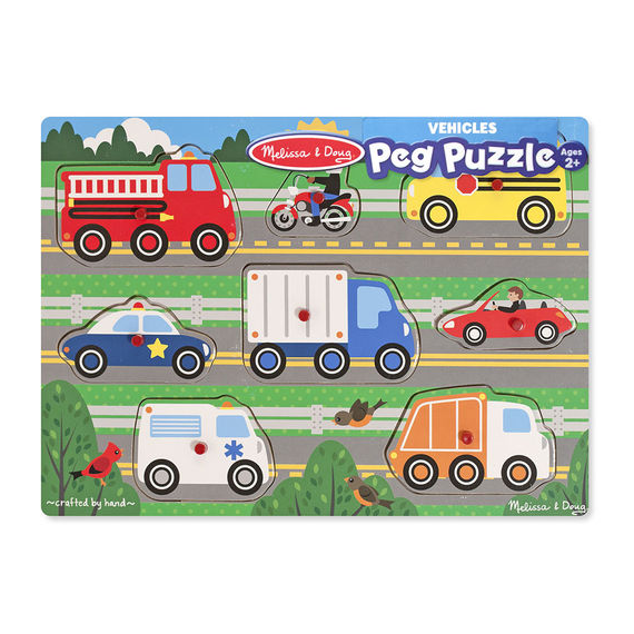 Vehicles Peg Puzzles