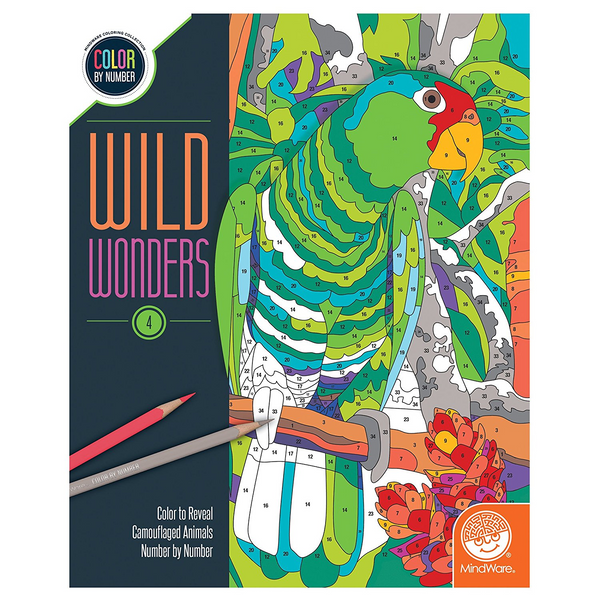 Wild Wonders Color By Number Book 4