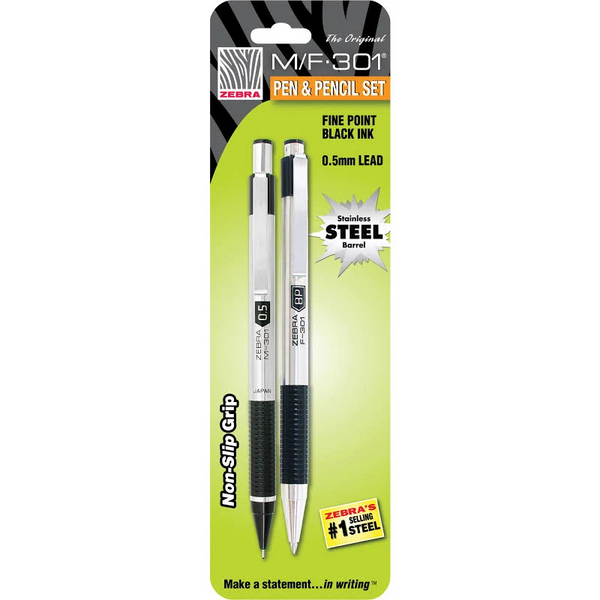 Zebra Pen & Pencil Set (M/F301)