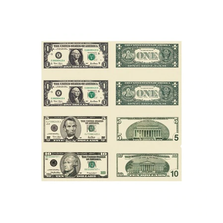 Money US Bills Stickers