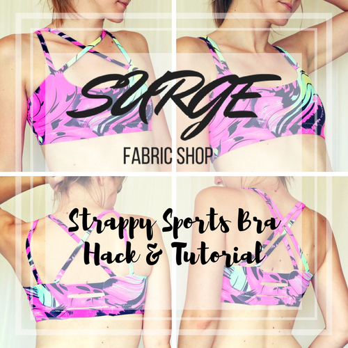Strappy Back Sports Bra Hack & Tutorial