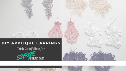 DIY Applique Earrings