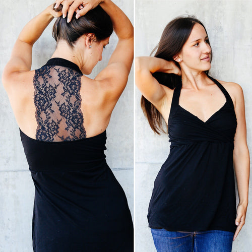 Better Than Bought - Lace Back Halter Top