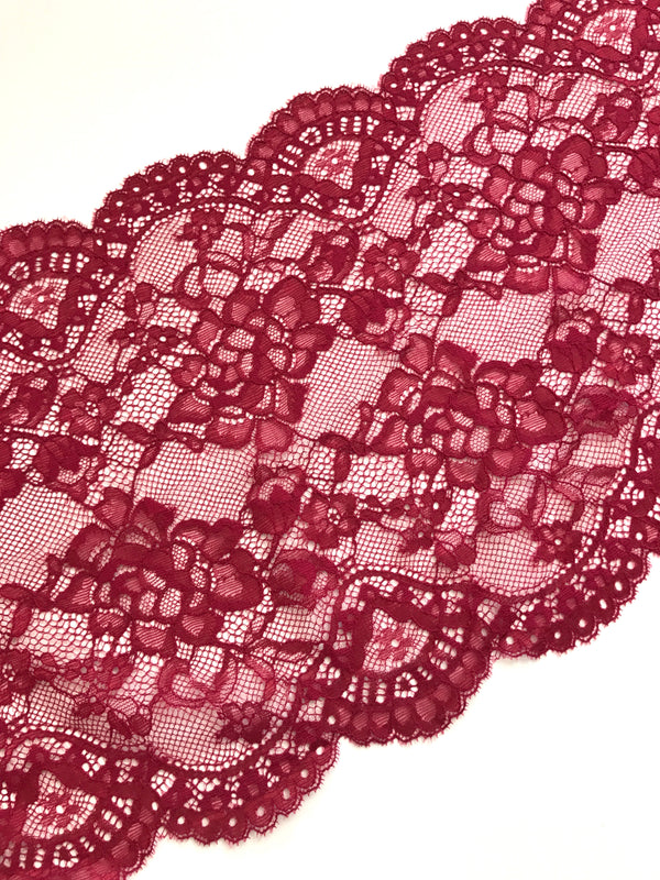 "Rouge 9"" Wide Stretch Lace"