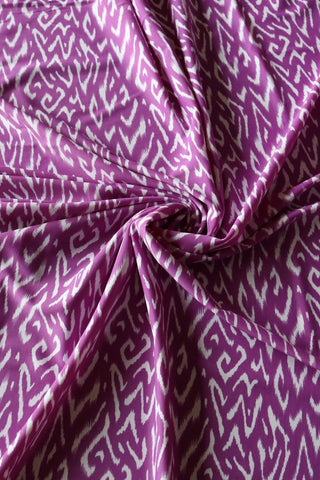 Purple & White Ikat Nylon Spandex
