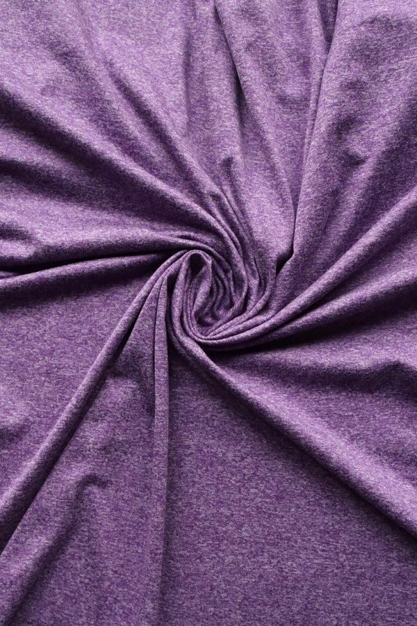 Purple Athletic Brushed Poly Jersey 125GSM